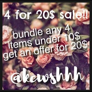 4 for 20$ sale!